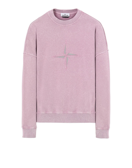 STONE ISLAND 66254 FLECK TREATMENT Sweatshirt Man Pink Quartz