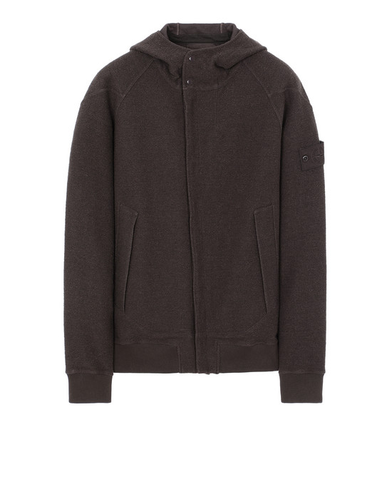 STONE ISLAND 651F5 GHOST PIECE Sweatshirt Man Dark Brown