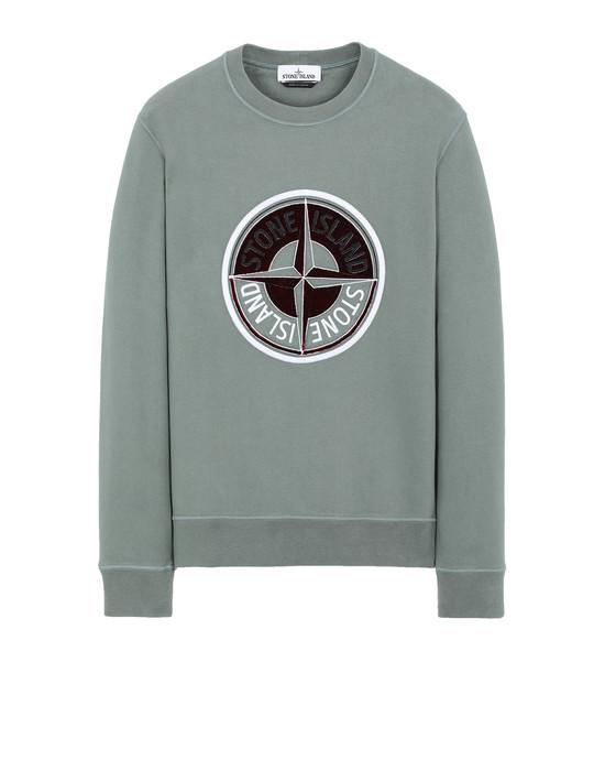 STONE ISLAND 63094 3D THREAD COMPASS Sweatshirt Man Sage Green