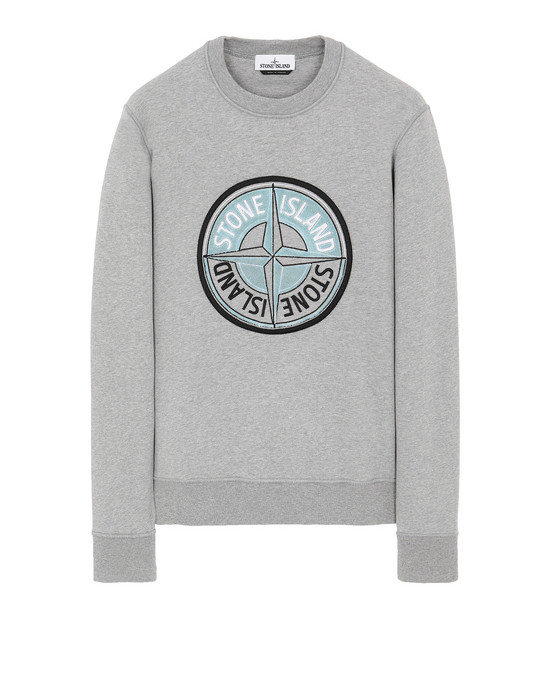 STONE ISLAND 63094 3D THREAD COMPASS Sweatshirt Man DUST MELANGE