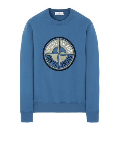 STONE ISLAND 63094 3D THREAD COMPASS Sweatshirt Man Periwinkle EUR 195