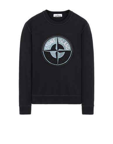 STONE ISLAND 63094 3D THREAD COMPASS Sweatshirt Man Blue EUR 213