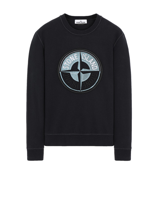 STONE ISLAND 63094 3D THREAD COMPASS Sweatshirt Man Blue