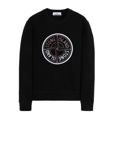 STONE ISLAND 63094 3D THREAD COMPASS Sweatshirt Man Black EUR 213