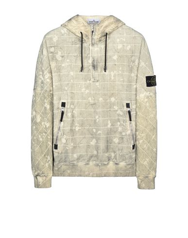 STONE ISLAND 626E2 DUST COLOUR WITH GHILLIE LASER CAMO Sweatshirt Man Butter EUR 319