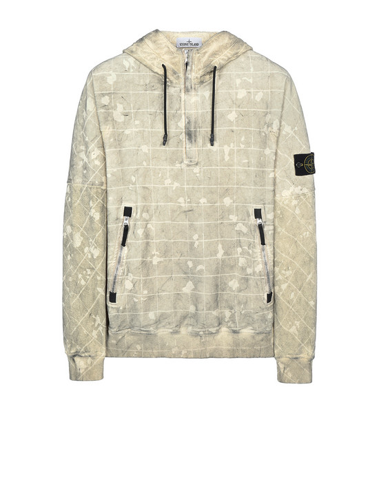 STONE ISLAND 626E2 DUST COLOUR WITH GHILLIE LASER CAMO Sweatshirt Homme Crème