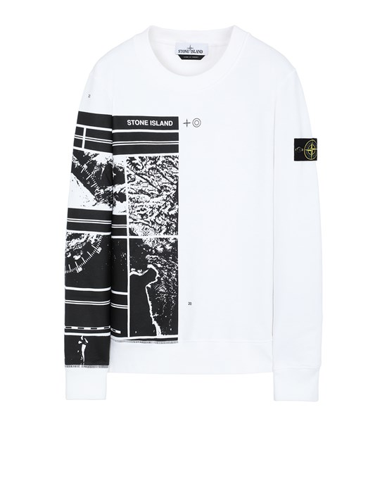 STONE ISLAND 63088 MURAL PART 3 Sweatshirt Man White