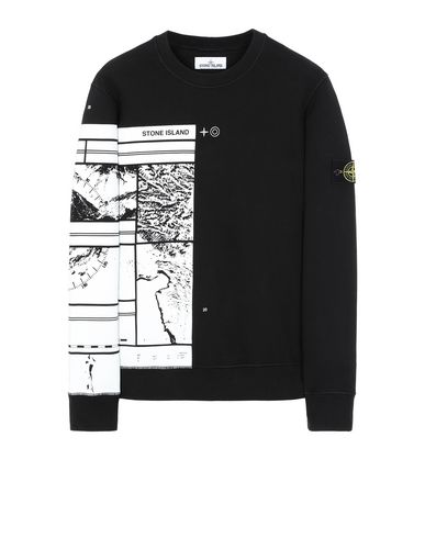 STONE ISLAND 63088 MURAL PART 3 Sweatshirt Man Black EUR 173