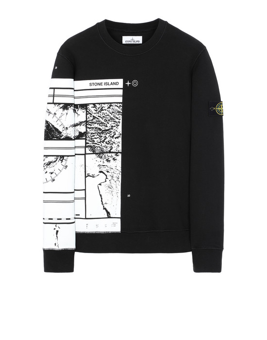 STONE ISLAND 63088 MURAL PART 3 Sweatshirt Man Black