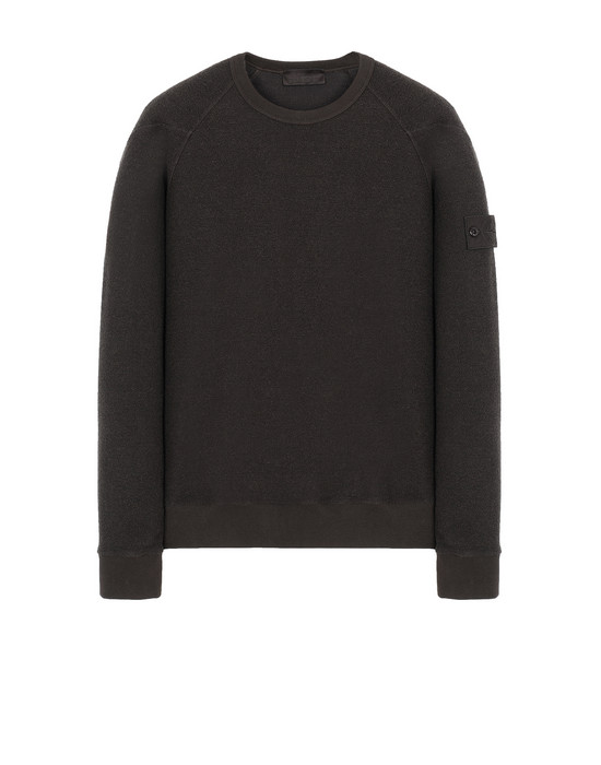 STONE ISLAND 654F5 GHOST PIECE Sweatshirt Man Dark Brown