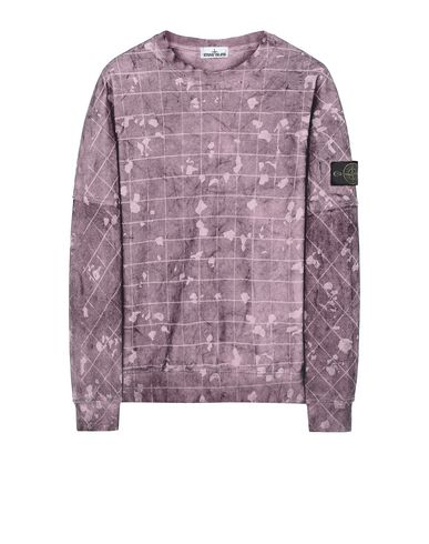 STONE ISLAND 636E2 DUST COLOUR WITH GHILLIE LASER CAMO Sweatshirt Man Magenta EUR 223