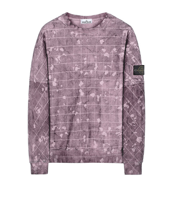 STONE ISLAND 636E2 DUST COLOUR WITH GHILLIE LASER CAMO Sweatshirt Homme Magenta