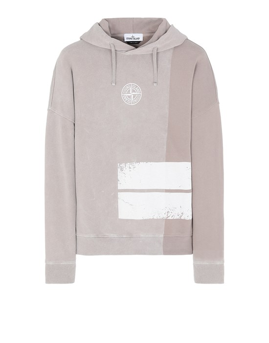 STONE ISLAND 61889 DUST TWO Sweatshirt Homme Grège