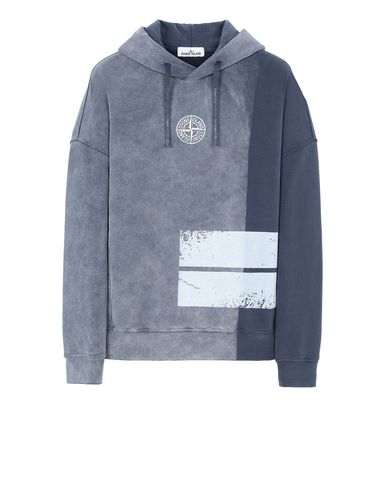 STONE ISLAND 61889 DUST TWO Sweatshirt Man Marine Blue EUR 335