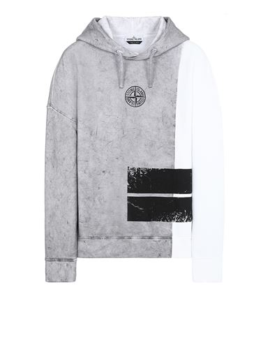 STONE ISLAND 61889 DUST TWO Sweatshirt Man White USD 303
