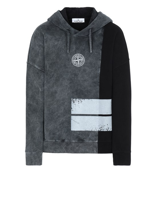 Sweatshirt Man 61889 DUST TWO Front STONE ISLAND