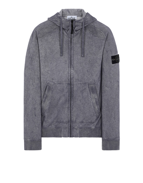 STONE ISLAND 62190 DUST COLOUR TREATMENT Sweatshirt Man MAGENTA MELANGE
