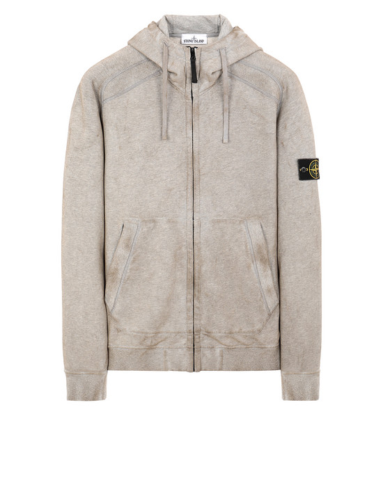 Sweatshirt Man 62190 DUST COLOUR TREATMENT Front STONE ISLAND