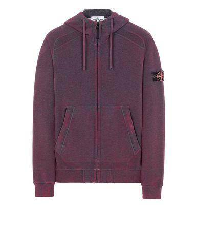 STONE ISLAND 62190 DUST COLOUR TREATMENT Sweatshirt Man Dark Cyclamen Melange EUR 329
