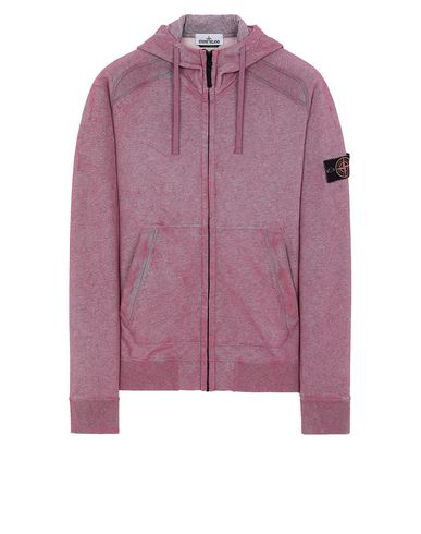 STONE ISLAND 62190 DUST COLOUR TREATMENT Sweatshirt Herr VEILCHENBLAU-MELANGE EUR 230