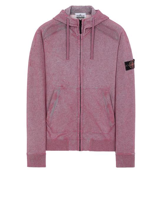 STONE ISLAND 62190 DUST COLOUR TREATMENT Sweatshirt Man Cyclamen Melange.