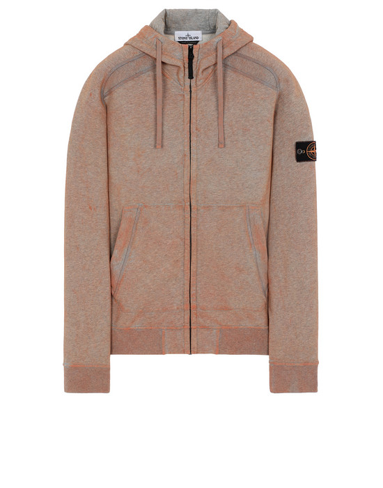 STONE ISLAND 62190 DUST COLOUR TREATMENT Sweatshirt Man ORANGE MELANGE