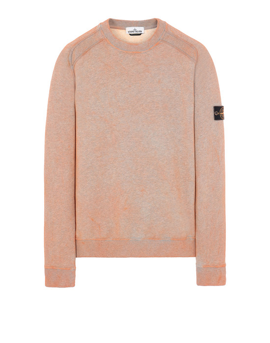 STONE ISLAND 62290 DUST COLOUR TREATMENT  Sweatshirt Man ORANGE MELANGE