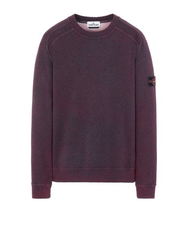 STONE ISLAND 62290 DUST COLOUR TREATMENT  Sweatshirt Man Dark Cyclamen Melange USD 338
