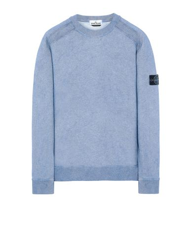 STONE ISLAND 62290 DUST COLOUR TREATMENT  Sweatshirt Man Periwinkle Melange EUR 255