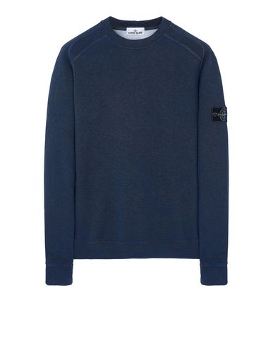 STONE ISLAND DUST COLOUR TREATMENT: Sweatshirt Man Dark Periwinkle Melange EUR 255
