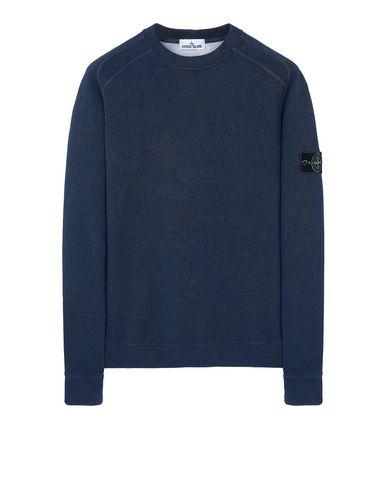 STONE ISLAND DUST COLOUR TREATMENT: Sweatshirt Man Dark Periwinkle Melange USD 323