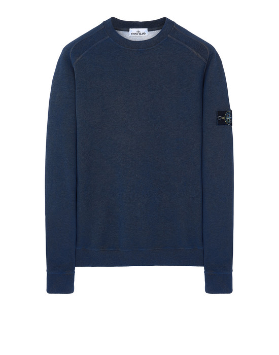 STONE ISLAND DUST COLOUR TREATMENT: Sweatshirt Herr BLAUVIOLETT-MELANGE DUNKEL