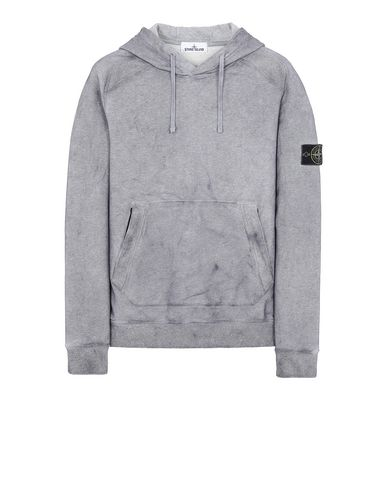 STONE ISLAND 62090 DUST COLOUR TREATMENT Sweatshirt Man MAGENTA MELANGE USD 305