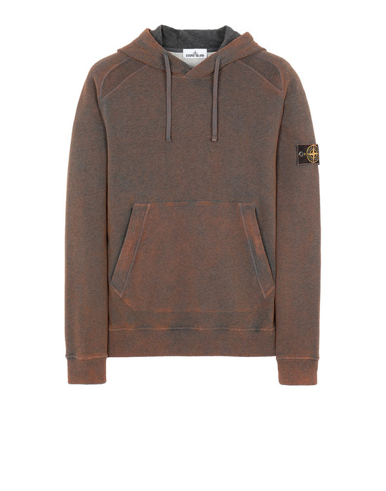 STONE ISLAND 62090 DUST COLOUR TREATMENT Sweatshirt Man DARK ORANGE MELANGE