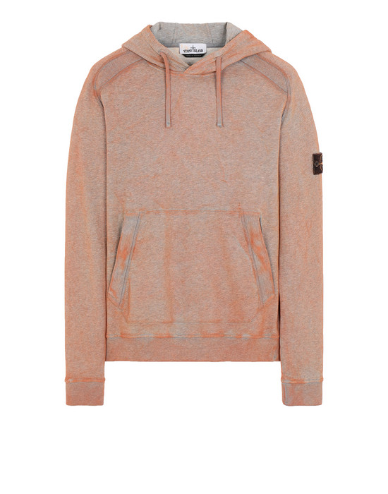 STONE ISLAND 62090 DUST COLOUR TREATMENT Sweatshirt Man ORANGE MELANGE