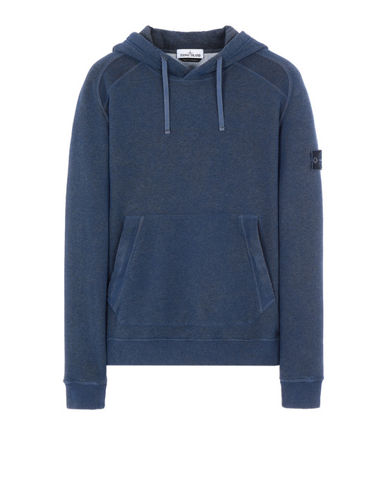STONE ISLAND 62090 DUST COLOUR TREATMENT Sweatshirt Herr BLAUVIOLETT-MELANGE DUNKEL