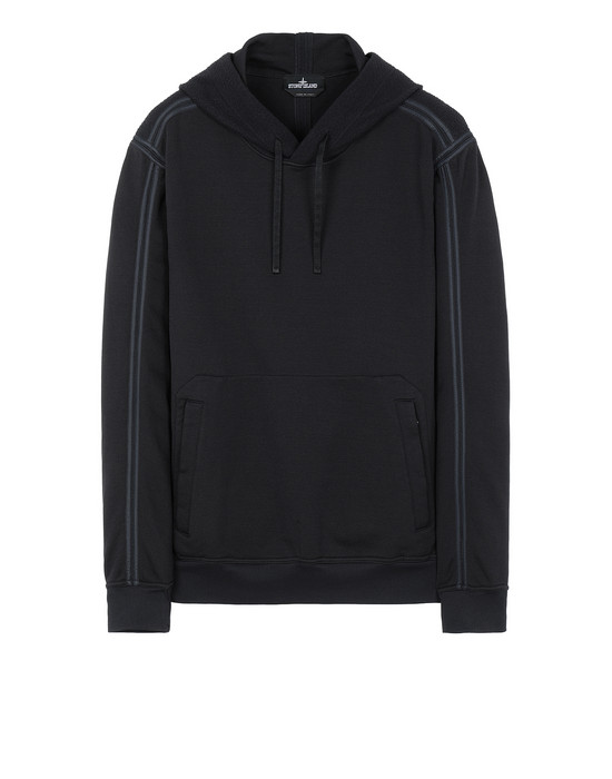 STONE ISLAND SHADOW PROJECT 60107 ENGINEERED PILL HOODIE  Sweatshirt Man Black