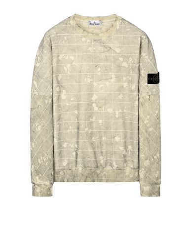STONE ISLAND 636E2 DUST COLOUR CON GHILLIE LASER CAMO Sweatshirt Man Butter EUR 223