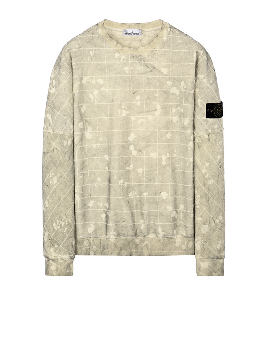 STONE ISLAND 636E2 DUST COLOUR CON GHILLIE LASER CAMO Sweatshirt Man Butter