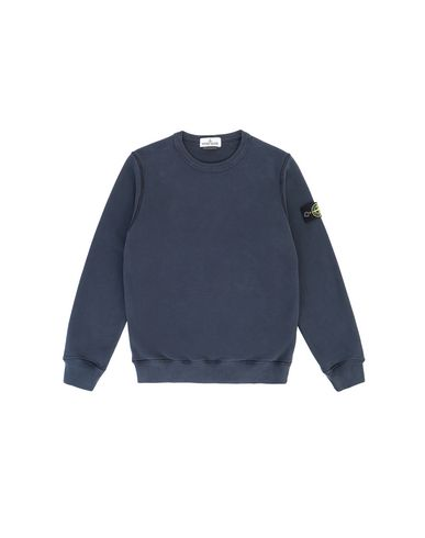 STONE ISLAND JUNIOR 61340 Sweatshirt Man Marine Blue EUR 130