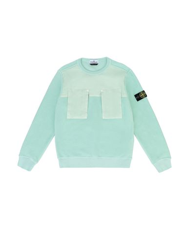 STONE ISLAND JUNIOR 60544 Sweatshirt Man Light Green EUR 139
