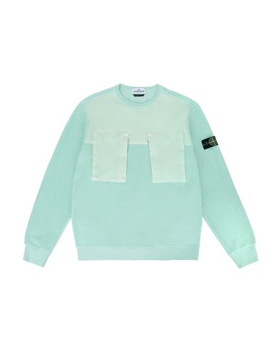 STONE ISLAND TEEN 60544 Sweatshirt Man Light Green EUR 198
