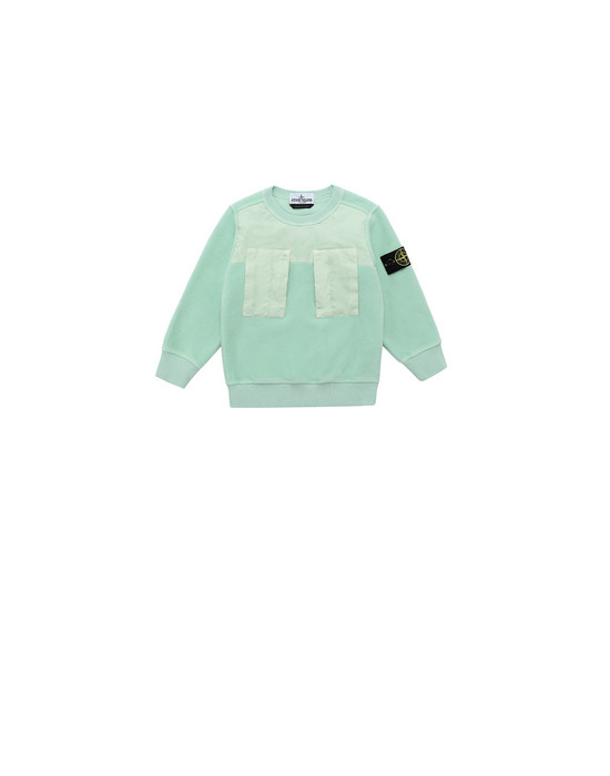 STONE ISLAND BABY 60544 Sweatshirt Man Light Green