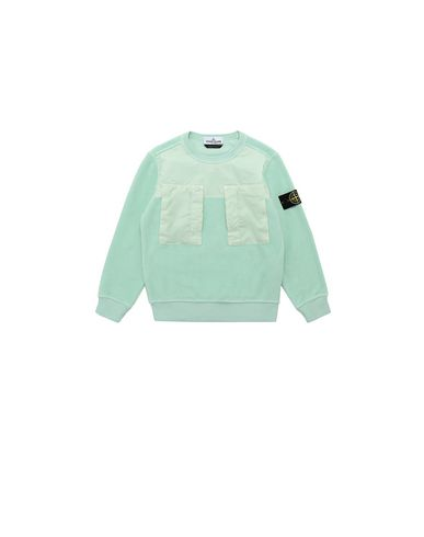 STONE ISLAND KIDS 60544 Sweatshirt Man Light Green USD 184
