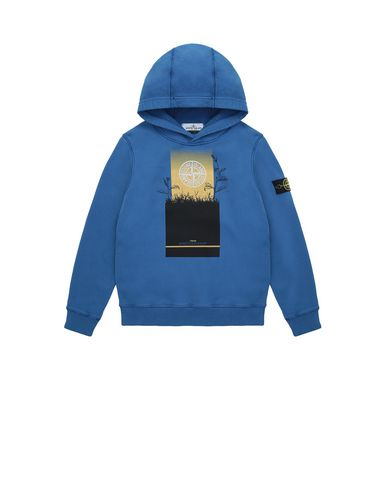 STONE ISLAND JUNIOR 61740 Sweatshirt Man Periwinkle USD 228
