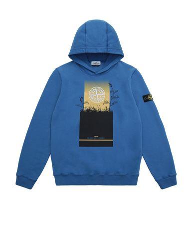 STONE ISLAND TEEN 61740 Sweatshirt Man Periwinkle EUR 144