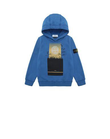 STONE ISLAND KIDS 61740 Sweatshirt Man Periwinkle EUR 107