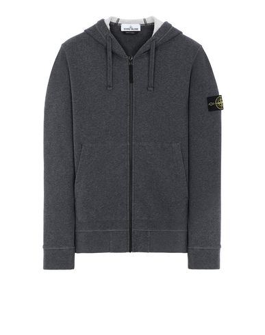 STONE ISLAND 64220 Sweatshirt Man DARK GRAY MELANGE USD 246