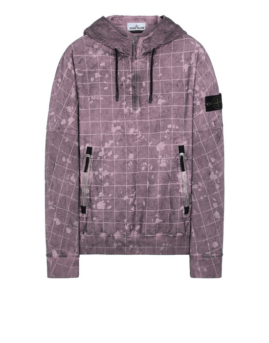 STONE ISLAND 626E2 DUST COLOUR WITH GHILLIE LASER CAMO スウェット メンズ マゼンタ