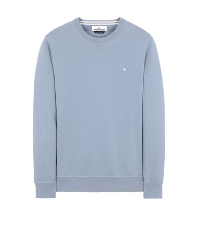STONE ISLAND 60851 Sweatshirt Man Pastel Blue USD 267